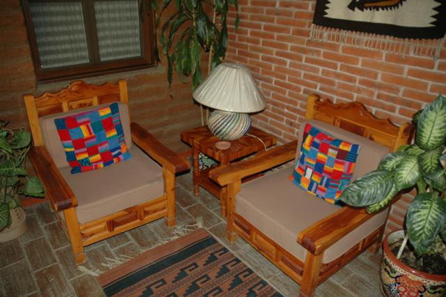 Seating area in Casa Adobe